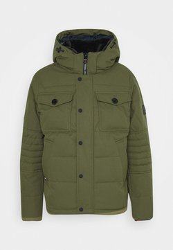 Tommy Hilfiger - REMOVABLE HOODED BOMBER - Winterjacke - green