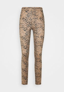 Cream - LIVIACR LEGGINGS - Leggings - Hosen - leopard