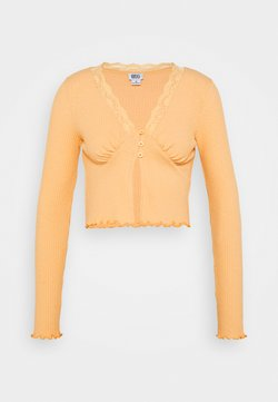 BDG Urban Outfitters - VNECK LACE CARDIGAN TOP - Gilet - peach
