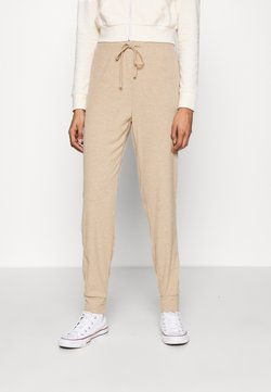 ONLY - ONLZOE LONG PANTS  - Jogginghose - beige