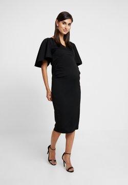 True Violet Maternity - KIMONO SLEEVE DRESS WITH SPLIT DETAIL - Etui-jurk - black