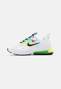 Nike Sportswear - AIR MAX 270 REACT - Sneaker low - white/black/blue fury/volt/flash crimson