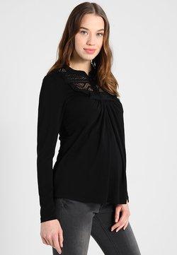LOVE2WAIT - NURSING ORGANIC - Långärmad tröja - black
