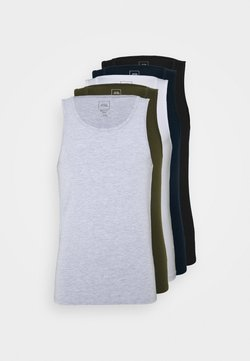 River Island - 5PACK  - T-shirts - khaki/white/blue/grey/black
