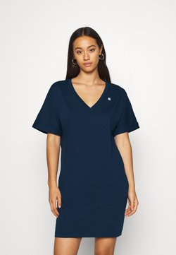 G-Star - LOOSE DRESS V WMN S\S - Jerseykleid - sartho blue