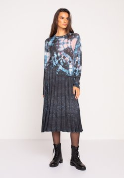 Ivko - PRINTED DRESS  BATIK PATTERN - Strickkleid - dark grey
