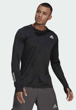 adidas Performance - OWN THE RUN LONG-SLEEVE TOP - Funktionsshirt - black