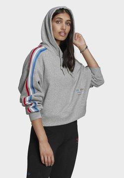 adidas Originals - ADICOLOR ORIGINALS LOOSE SWEATSHIRT HOODIE - Bluza z kapturem - grey