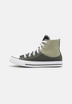 Converse - CHUCK TAYLOR ALL STAR SPLIT UPPER UNISEX - Zapatillas altas - light field surplus/cargo khaki/white