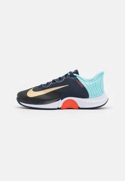 Nike Performance - COURT AIR ZOOM GP TURBO - All court tennisskor - obsidian/metallic gold/copa/white
