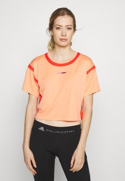 Tommy Hilfiger - FASHION CROPPED TOP - Printtipaita - orange