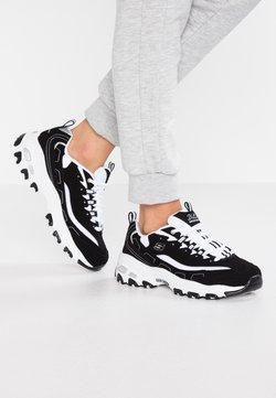Skechers Sport - D'LITES - Sneakers laag - black/white/silver