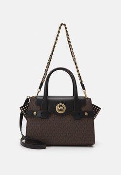 MICHAEL Michael Kors - CARMENSM FLAP SATCHEL - Handtasche - brown/black