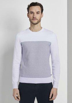 TOM TAILOR - Stickad tröja - white/navy