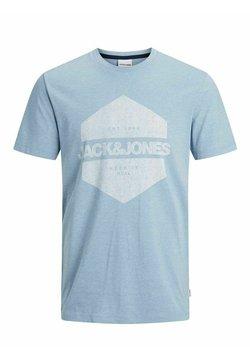 Jack & Jones - Printtipaita - mottled light blue/light blue