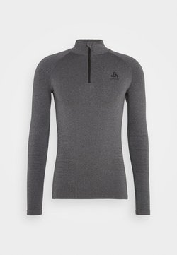 ODLO - PERFORMANCE WARM ECO TURTLE NECK HALF ZIP - Camiseta interior - grey melange/black