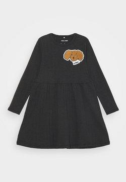 Mini Rodini - FLUFFY DOG PATCH DRESS - Jerseykleid - black