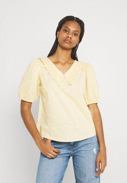 YAS - YASMELANA - T-shirt con stampa - golden straw