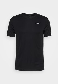 Reebok - TECH TEE - T-shirt med print - black