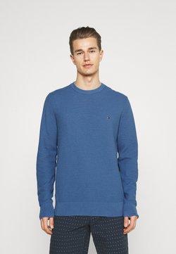 Tommy Hilfiger - STRUCTURE CREW NECK - Stickad tröja - pebble blue