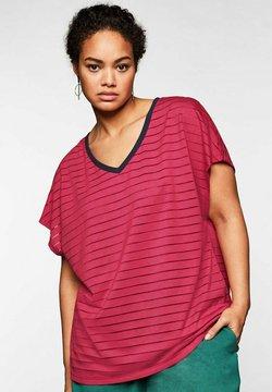 Sheego - T-Shirt print - dunkelpink