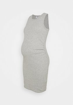 Cotton On - MATERNITY HIGH NECK MIDI DRESS - Vestido ligero - grey marle