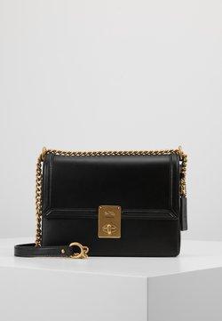 Coach - REFINED HUTTON SHOULDER BAG - Handtasche - black