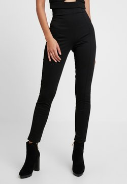 Nly by Nelly - SHAPE HIGH WAIST PANT - Kangashousut - black