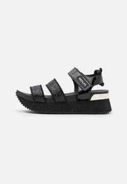 Replay - HEWISH - Platform sandals - black
