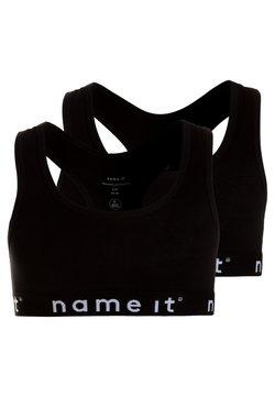 Name it - NKFSHORT TOP SOLID 2 PACK - Bustier - black