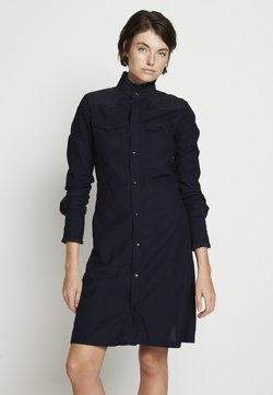 G-Star - WESTERN SLIM FRILL DRESS - Blusenkleid - rinsed