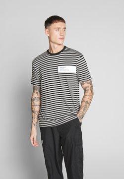 Mennace - UNISEX BOX HORIZONTAL STRIPE - Print T-shirt - black