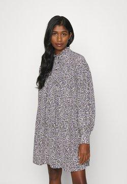 Vero Moda - VMVILDA SHORT FLOWER DRESS  - Robe chemise - black/purple