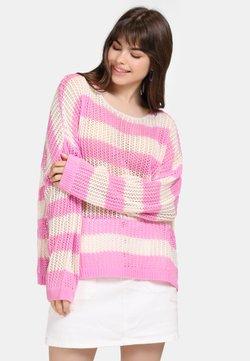 myMo - Strickpullover - light pink/white