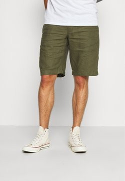 Benetton - BERMUDA LINO - Shorts - military green