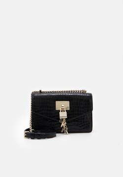 DKNY - ELISSA SHOULDER - Umhängetasche - black/gold-coloured