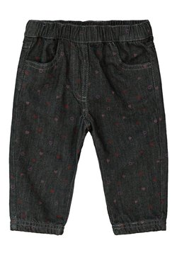 Esprit - MIT PRINT UND JERSEY-FUTTER - Straight leg jeans - grey medium washed