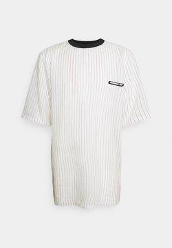 NUMERO 00 - STRIPED TEE - T-Shirt print - white