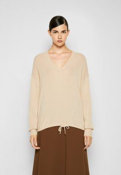 Theory - RELAXED HOODIE - Sweter - pale sand