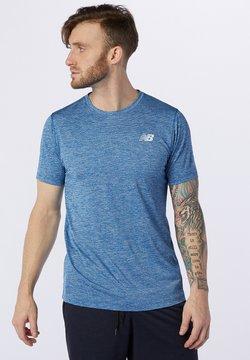 New Balance - TENACITY - T-shirt con stampa - captain blue