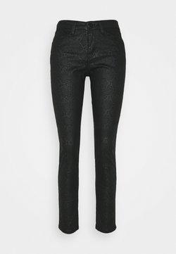 Opus - EMILY CRISTAL SNAKE - Jeans Slim Fit - black