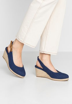 Evans - WIDE FIT SLING BACK WEDGE - Sandalen met sleehak - navy