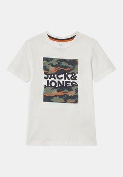 Jack & Jones Junior - JORCAMERON CREW NECK  - Printtipaita - cloud dancer