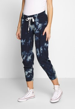 ohma! - TIE&DYE SAROUEL TROUSER WITH LOW BELLY - Jogginghose - navy