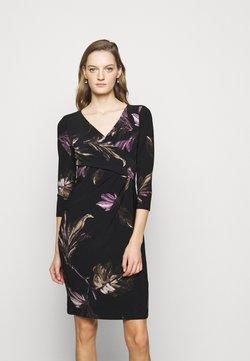Lauren Ralph Lauren - PRINTED MATTE DRESS - Etuikjoler - black/purple