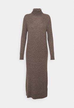 pure cashmere - TURTLENECK MAXI DRESS - Neulemekko - heather brown