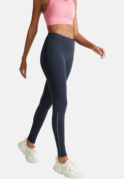 Esprit Sports - LEGGINGS MIT PUNKTE-DETAILS, E-DRY - Tights - navy