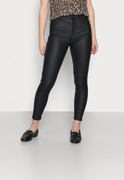 New Look Petite - COATED LIFT AND SHAPE SKINNY - Broek - black