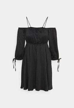 NA-KD - OFF SHOULDER MINI DRESS - Freizeitkleid - black