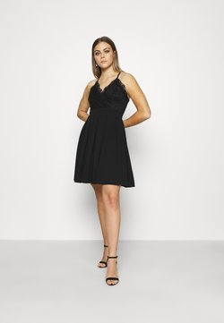 WAL G. - SKATER DRESS - Cocktailkjoler / festkjoler - black